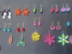 DIY - Quilled paper earrings, Paper quilling earrings tutorial - YouTube