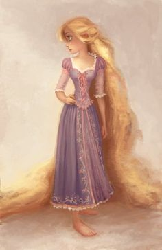 Day 2: My favorite princess - Rapunzel is my favorite princess, probably because she's so naive and innocent, but at the same time, she's awesome, active and pretty.