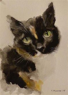 "Daily Paintworks - ""Molly"" - Original Fine Art for Sale - © Katya Minkina"
