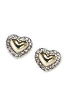 Silver & Gold Heart Earrings