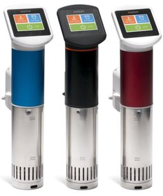 "Another relatively inexpensive sous vide system: Anova Sous Vide Immersion Circulators... hunting around online, many sous vide systems are thousands of dollars... and are more intense than these. Basically, you attach these to your own vessel to create a sous vide ""oven."""