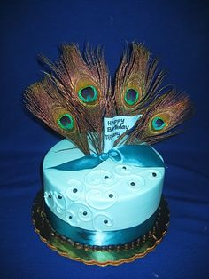 PEACOCK CAKE!!!!