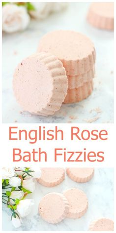 Make your own English Rose Bath Fizzies at home with this easy tutorial. These homemade bath fizzies create a relaxing spa-like bath experience.