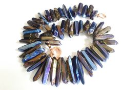 Collier cristalli stick plated metallic rainbow 15-20 mm : Collane di tizianatar