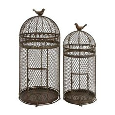 I pinned this 2 Piece Rustic Bird Cage Set from the Design Report event at Joss & Main!