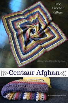 Centaur Mandala Afghan – Free Crochet Blanket Pattern – A Crocheted Simplicity Free Crochet Blanket Pattern – Centaur Mandala Afghan … Crochet Stitches Patterns, Afghan Crochet Patterns, Crochet Designs, Knitting Patterns, Crochet Afgans, Crochet Yarn, Easy Crochet, Crochet Owls, Tutorial Crochet
