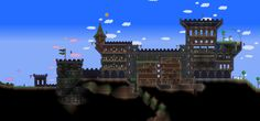 Terraria Castle by Naughty-UK.deviantart.com on @deviantART