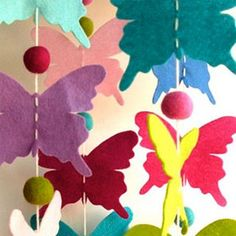papillons feutrine