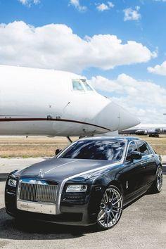 Exquisite Rolls Royce and private jet - the High Roller and 'big spender' lifestyle. Maserati, Bugatti, Lamborghini, Ferrari, Sexy Cars, Hot Cars, My Dream Car, Dream Cars, Aston Martin