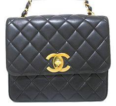 Vintage CHANEL Black Square Jumbo 2.55 Shoulder Bag  324c6f6d7707c