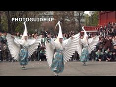 White Heron Dance (Shirasagi-no-Mai), Asakusa 2014 白鷺の舞 - YouTube. Long video scan through for highlights or play for dance in its entirety.