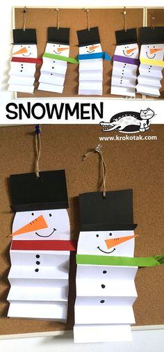 snowman paper kid craft – Schneemann Papier Kind Handwerk – This image. Kids Crafts, Winter Crafts For Kids, Winter Kids, Winter Art, Projects For Kids, Art Projects, Winter Activities For Kids, Wood Crafts, Spring Crafts