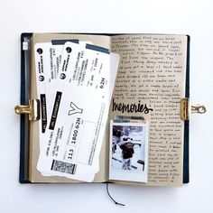 Really need to finish this scrapbook from our April trip before our trip next month! Journal Diary, Photo Journal, Bullet Journal Ideas Pages, Bullet Journal Inspiration, Food Journal, Scrapbook Journal, Travel Scrapbook, Scrapbook Pages, Travel Journal Pages