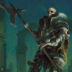 undead skeleton armor plate character scene portrait Markus_Neidel_16