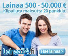 LAINAA24 | Saat Halpaa Lainaa 500-50.000€, Koska Hakemuksesi Kilpailutetaan 20 Pankilla!