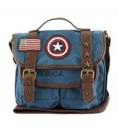 Loungefly x Marvel Captain America Canvas Messenger Bag