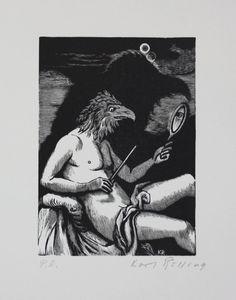 Karl Rössing Original Holzschnitt signiert Woodcut Signed Adler Spiegel   eBay