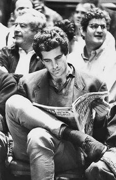 John F. Kennedy Jr. at Knicks Game
