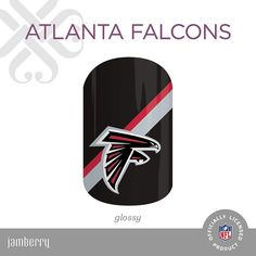 #nfl #atlantafalcons #riseup #falcons #nailsofinstagram #falconsfamily #nailstagram  #jamberry #nailwraps #nailart #jamberrynails #nailsoftheday #pretty #cute