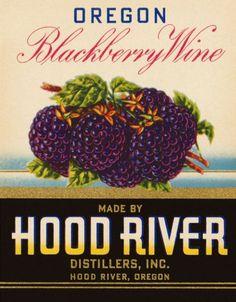 Blackberry Wine vintage label