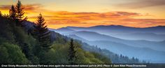 Great Smoky Mountains National Park was the most visited national park in 2012.