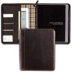 Bomber Jacket Circa Zip Folio - Leather Portfolio, Notebook Cover - Levenger