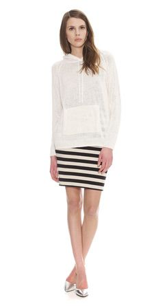 Stripe Jersey Tube Skirt Whistles