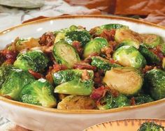 Bacon brown sugar Brussels sprouts