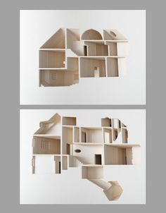 The experience of homes is all about the interior_ yet most architectural models depict primarily (o. Commissioned and published by the Museum of Modern Art in New York_ this book shares its sto 3d Design, Design Model, Book Design, House Design, Interior Architecture, Interior Design, Architecture Diagrams, Architecture Portfolio, 3d Modelle