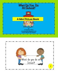 What Do You Do At School? A Mini Picture Book of Routines