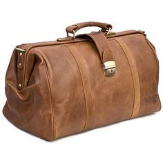 The softest of all leather - quality oil pull in a lovely stylish Gladstone travel bag from Eton Mudd