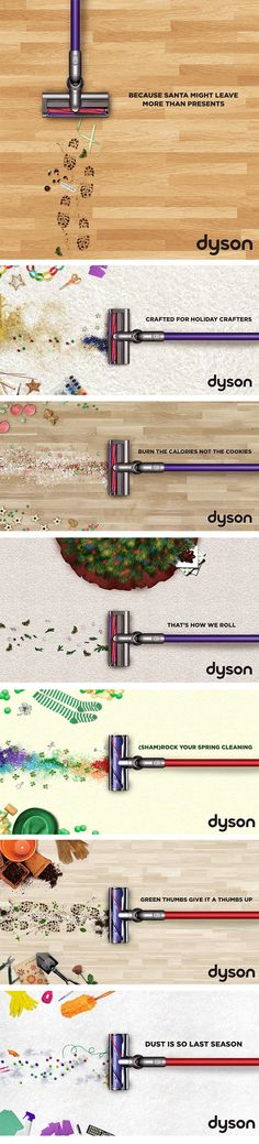 A series of #socialmedia ads created for Dyson to be used on Kohl's social media channels. #advertising #design