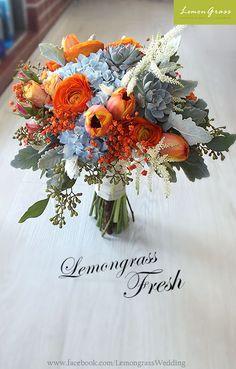 Ideas Purple Succulent Wedding Floral Arrangements For 2019 Orange Wedding Flowers, Flower Bouquet Wedding, Floral Wedding, Wedding Colors, Trendy Wedding, Wedding Simple, Wedding Blue, Boquette Wedding, Flower Bouquets