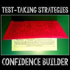 here is a free test-taking flippable to build confidence.
