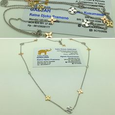 75% / 18k Rose & White Gold LV Necklace