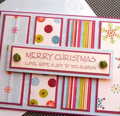 Handmade Christmas Card with Matching by SewColorfulDesigns