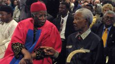 Nelson Mandela and Chinua Achebe Photo: The Week