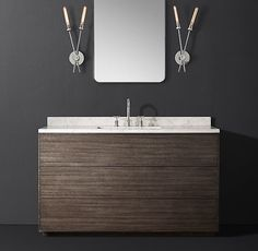 RH Modernu0027s Bowen Single Extra Wide Vanity:Free Of Visible Hardware And  Possessing A Rich Wood Grain, Our Bowen Bath Collection From The Van Thiels  Reflects ...