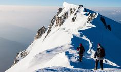 Mont Blanc, France/Italy Height: 4,810m  Climb time: 2 days round trip  Route: Voie des Cristalliers (French side), via the Gouter Refuge (3,817m)  Difficulty: 5; technical skills and high fitness levels required; bad weather common