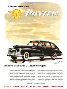 Pontiac Advertising (1947): A fine car made finer