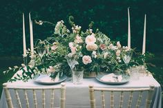 Soft, romantic blush and grey wedding table styling ideas by One Stylish Day (1)