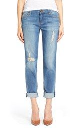 KUT from the Kloth 'Catherine' Distressed Stretch Boyfriend Jeans (Smile)