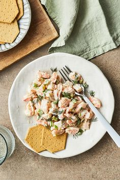 This creamy shrimp salad recipe incorporates shrimp, lemons, celery, scallions, mustard and mayonnaise to create the ultimate seafood recipe. Whether you're eating this shrimp recipe on its own as a snack, appetizer, side dish or light lunch or pairing it with a salad for an easy weeknight dinner, it's a great choice for a seafood recipe.#shrimprecipes #seafoodrecipes #healthyrecipes #shrimpsalad #saladrecipes Shrimp Salad Recipes, Seafood Recipes, Cooking Recipes, Seafood Salad, Shrimp Dishes, Fish Recipes, Cantaloupe Salad, Spinach Strawberry Salad