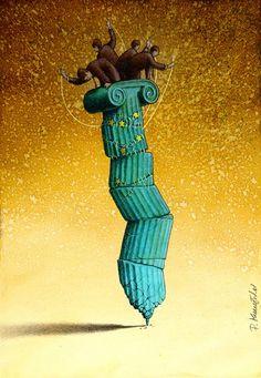 Τα πανέξυπνα αιχμηρά illustration του Pawel Kuczynski