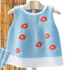 Kız Bebeklere Örgü Elbise Modelleri 156