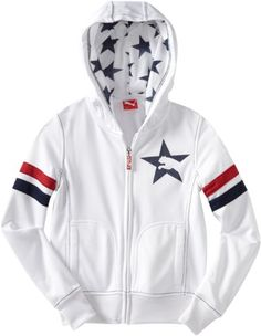 PUMA Girl`s 7-16 Stars And Stripes Jacket - List price: $46.00 Price: $18.81 Saving: $27.19 (59%) + Free Shipping