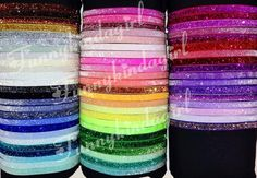 Glitter Elastic Headband 3/8 inch Sparkle. Choose One from 71 Colors including Neon Pastel Jewel Tones white, black, silver, gold, shocking pink, emerald, red, coral, mint, iridescent, peach, etc. Custom Sized Doll to Baby to Adult Stretch Interchangeable