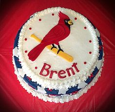 St. Louis Cardinals Birthday Cake.