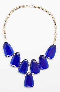 Chunky necklace #electric blue