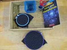 Our polygon game. Children can use this material as a 1, 2, or 3 person game. Children spin the spinner and then connect the polygons to cre...